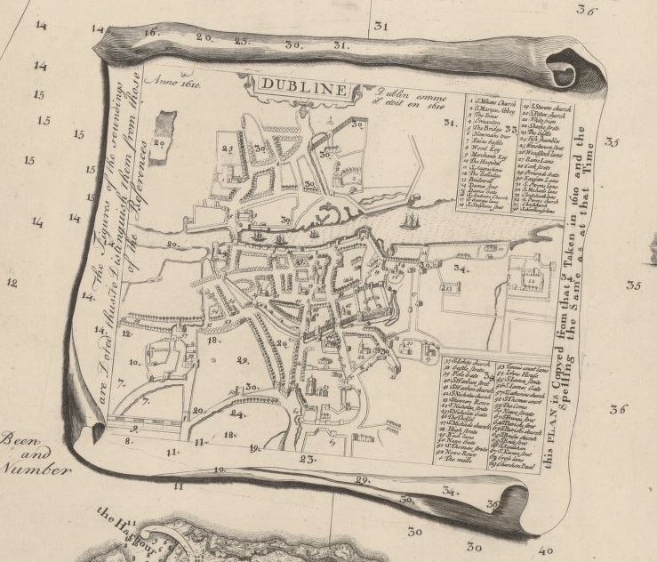 Detail - survey of the city, harbour, bay and environs of Dublin